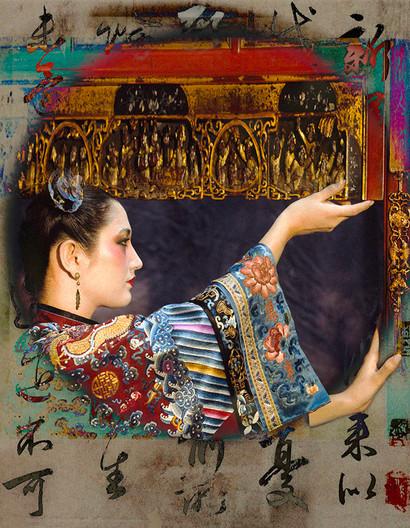 Empress in Forbidden Stitch Embroidered Gown