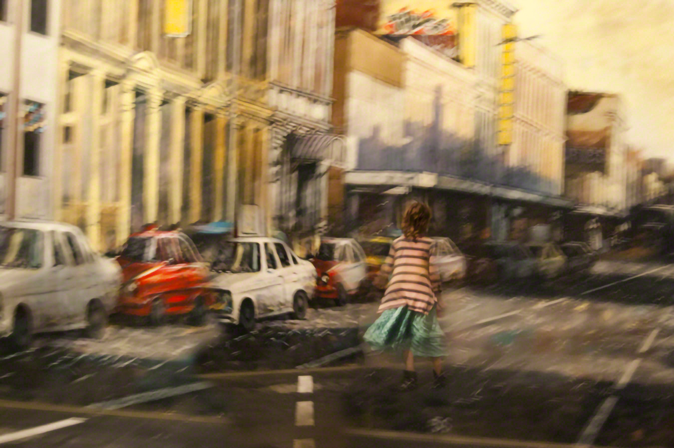Girl in Street, New Zealand