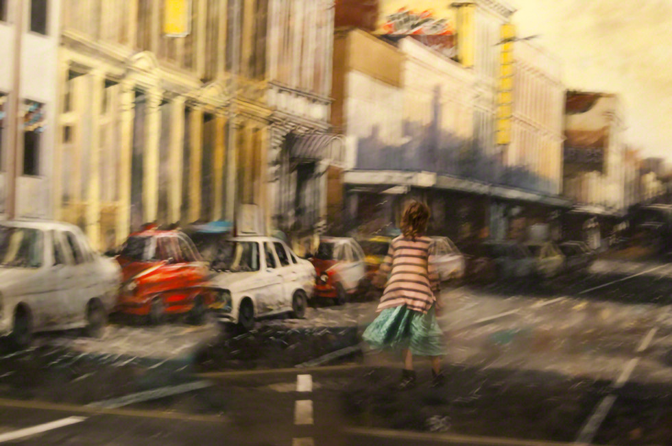 Girl in Street, New Zealand
