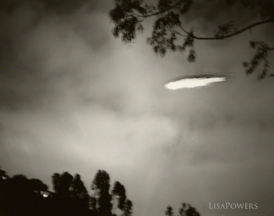 UFO over Hollywood Hills