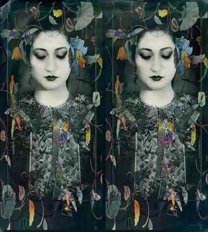 Empress Portrait in Painted Mirror
