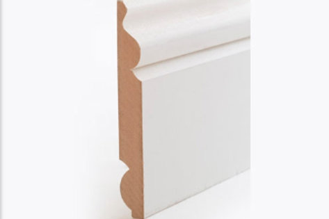 18 x 144mm Torus/Ogee Primed MDF Reversible Skirting