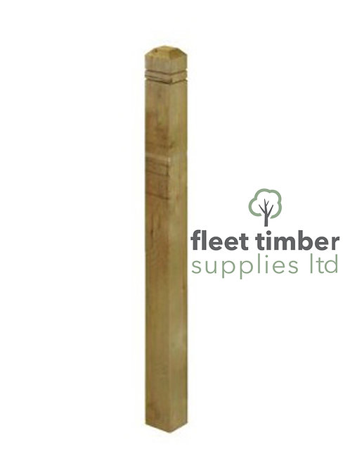 1.5m Contemporary Newel Post 85 x 85mm