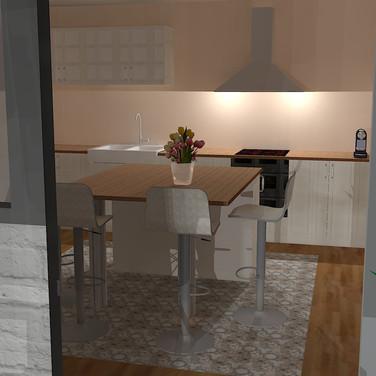 3D - proposition d'aménagement de la cuisine