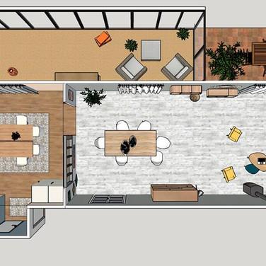 3D - proposition d'aménagement des pièces à vivre