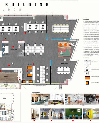 Floor space plan by Standing Space interior designers & architects in Warrigton