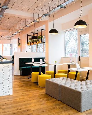 The Outset, coworking space in Warrington, after interior design & project management of space by Standing Space design practice