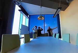 Digital Bridge blue office interio design & fit-out by Interior designes & architects Standing Space from Warrington