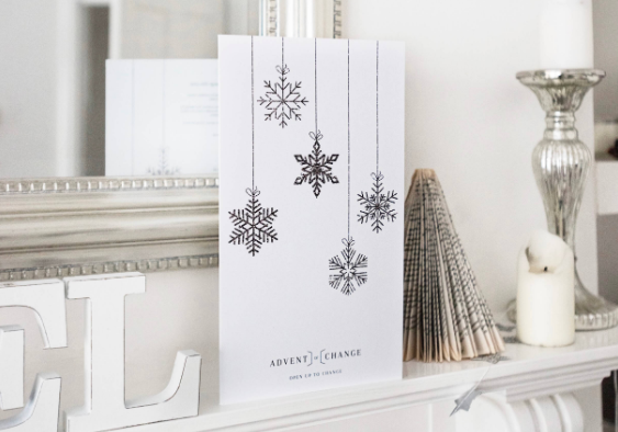 Advent calendar for Standing Space, interior design & architecture firm in Warrington, charity event