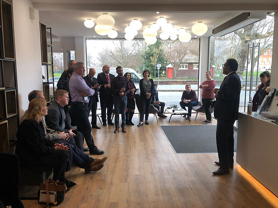 Opening at The Outset, coworking space in Warrington, after interior design & project management of space by Standing Space design practice