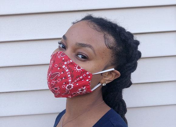 Red Bandana Mask