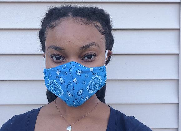 Blue Bandana Mask