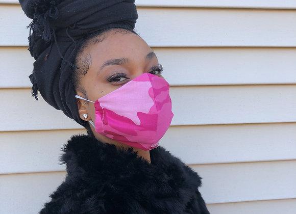 Pink Chaos Camo Mask