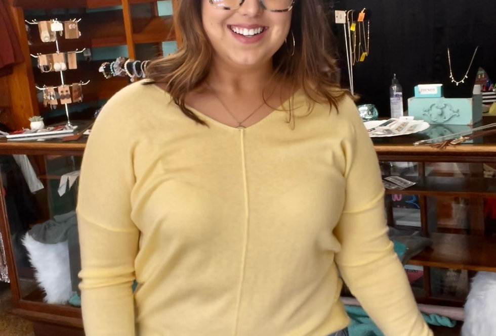 Basic Yellow Sweater