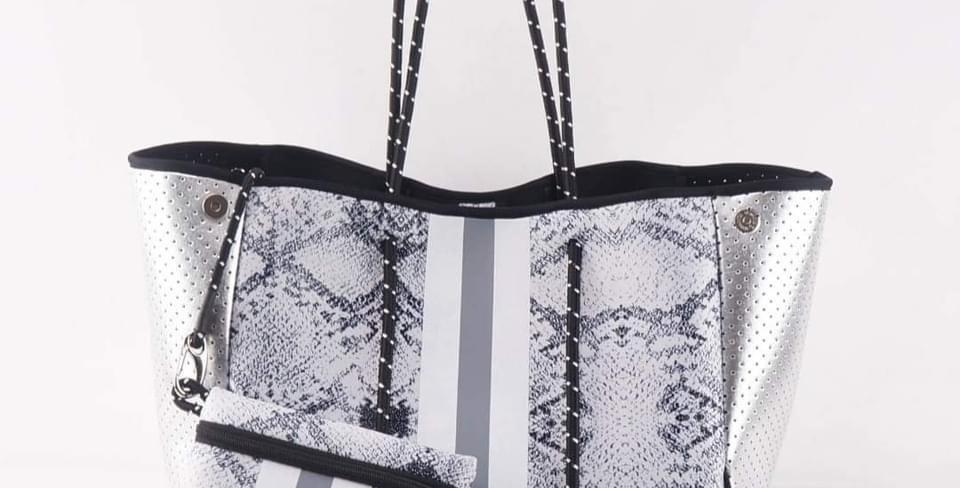 Neoprene Snakeskin Bag