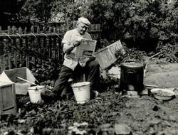 За чтением газет