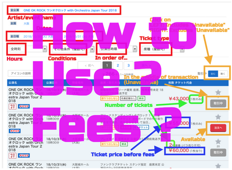 Japanese Resale Ticket Sites: How to Use & Fees/Payment methods