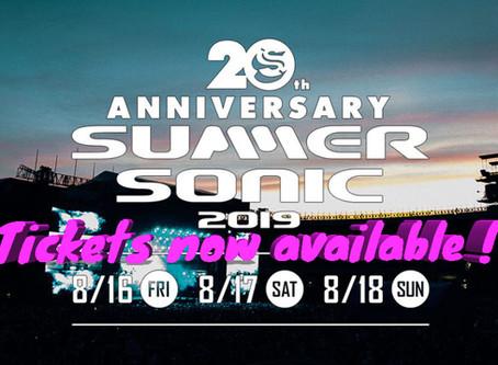 SUMMER SONIC 2019, Aug 16th & 17th & 18th, Tokyo & Osaka