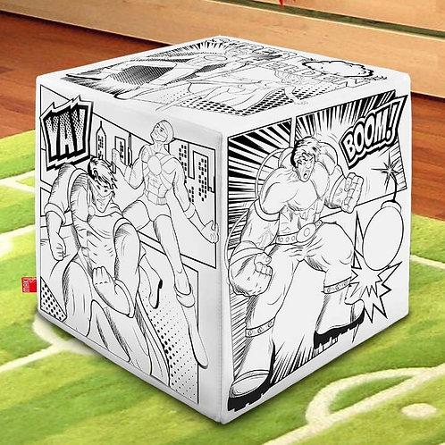 Tischwürfel – Superheld