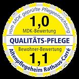 prüfsiegel altenpflegeheim rathaus-carré schkeuditz