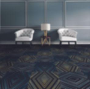 Büchi Boden_Schweiz_HTW Design Carpet_Teppichboden_ Druckteppiche_Bodenbeläge_Rollenware_Fliesen_Objektbereich_Hotellerie_Gastronomie_Collage_Cosmopolitan_Elegance_Megatiles