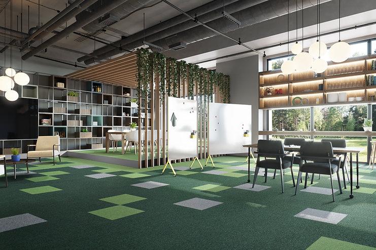 Buechi_Boden_Schweiz_Teppichfliesen_Modulyss_First Forward 625, 668, 907 _Objektbereich_Büro