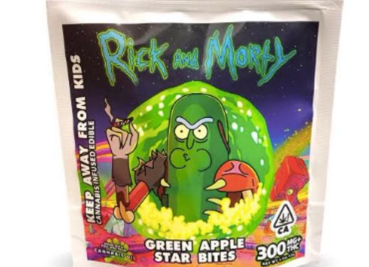 "Rick & Morty ""Green Apple Star Bites"" 300mg; 1 for 12"