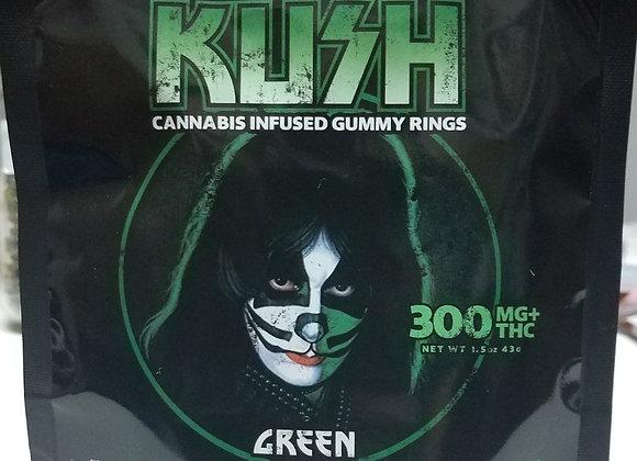 """Kush Kiss """"Green Apple Rings"""" 300mg; 1 for 12"""