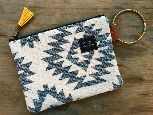 Small Ring Clutch - Blue Navajo