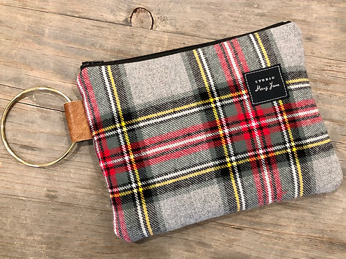 Fall plaid clutch