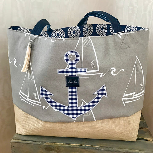 Anchors away beach & pool tote (large)