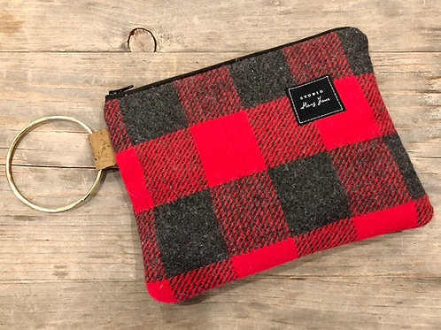 Up North plaid clutch