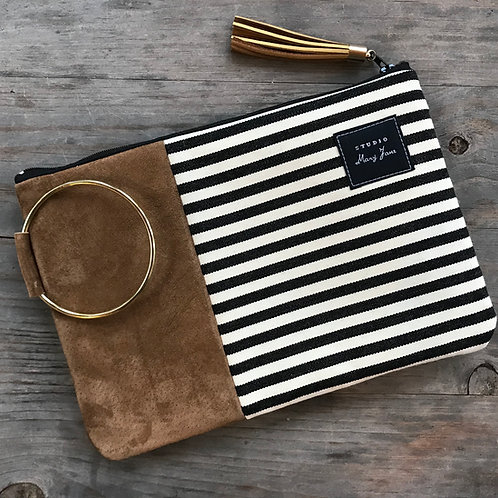 Medium Clutch - Striped