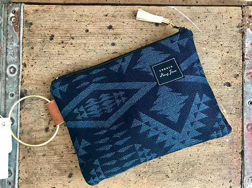 Small Blue Tanner Clutch