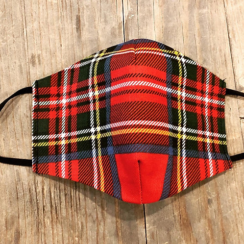 Holiday plaid mask