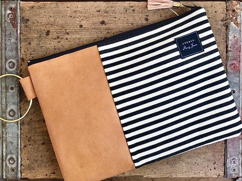 Large Stripes Clutch