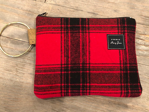 North Lake plaid clutch