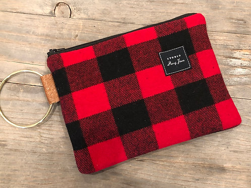Classic Buffalo plaid clutch