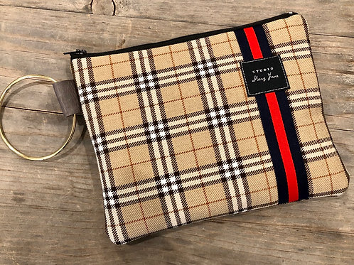 Fifth Avenue plaid clutch