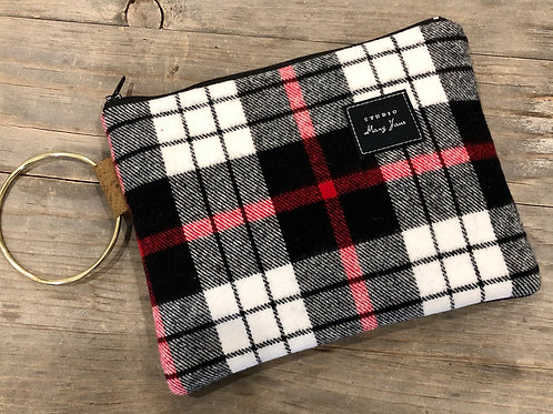 Camp plaid clutch