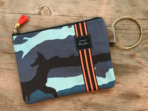Small Ring Clutch - Blue Camo