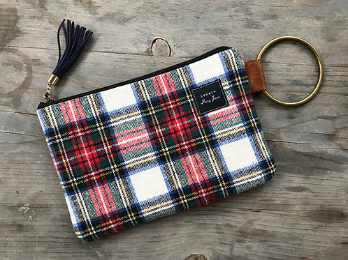 Small Ring Clutch - Winter Plaid
