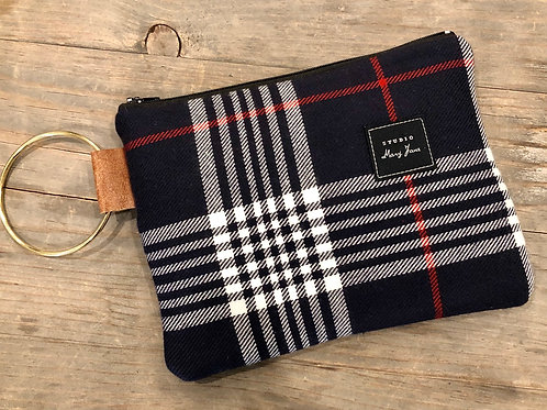 Minnetonka Blue plaid clutch