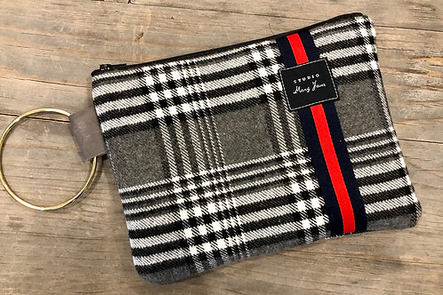 Perfect plaid clutch