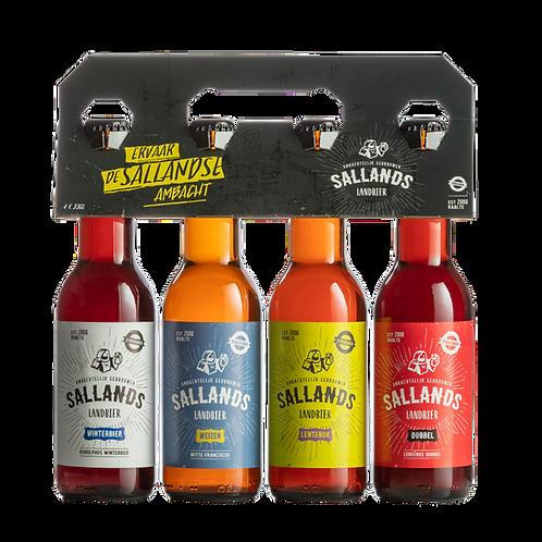 Sallands bier; 4-pack Sallands Landbier gemengd