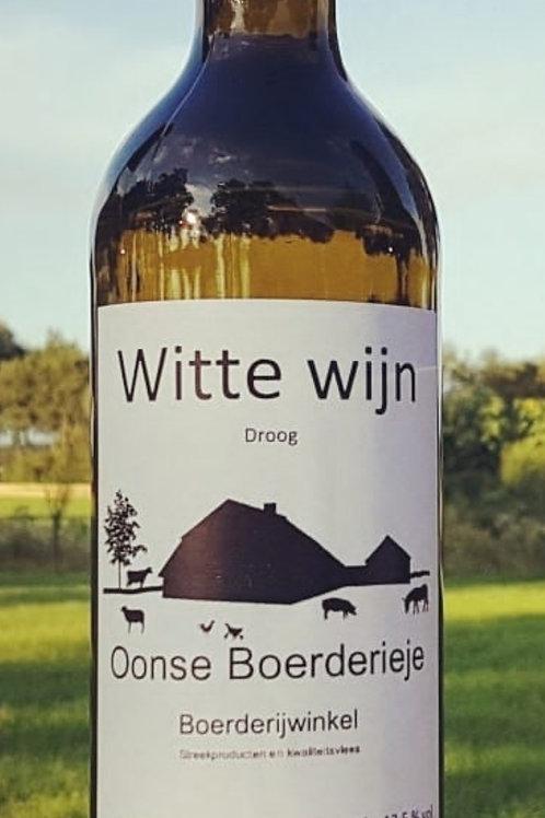 Witte wijn Oonse Boerderieje