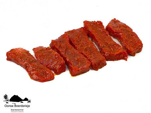 Gemarineerde biefstukreepjes