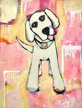 Pink Drippy Pup