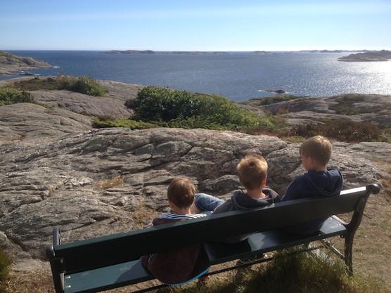 Utsikt over havet fra kyststien