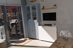 Stue med spiseplass slått sammen
